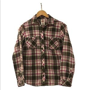 COPY - Dickies flannel green white pink